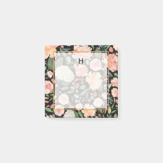 Notas Post-it® La primavera se ruborizan y el monograma floral de