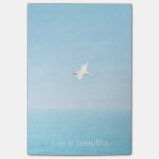 Notas Post-it® La vida es cita inspirada de la playa hermosa de