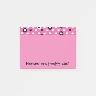 Notas Post-it® Las enfermeras son corazones frescos bonitos