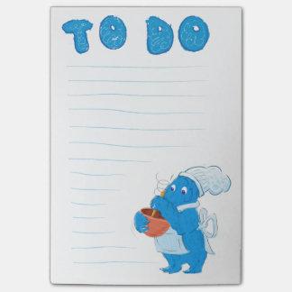 Notas Post-it® Libreta de ToDo del monstruo de la panadería
