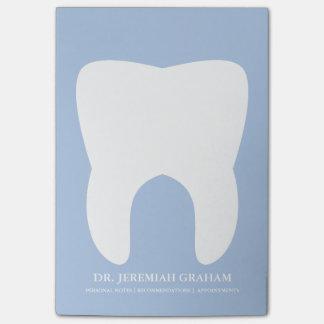 Notas Post-it® Libreta personal de la oficina del dentista