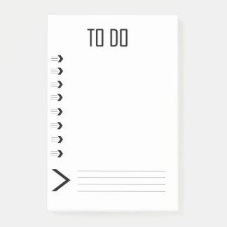Notas Post-it® Línea flecha para hacer el post-it