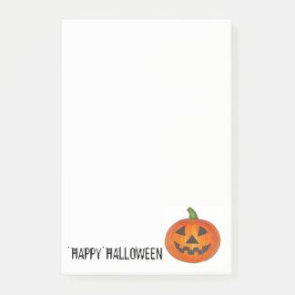 Notas Post-it® Linterna anaranjada del o de Jack de la calabaza