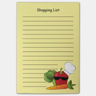Notas Post-it® Lista de compras de la pimienta roja de Rockin