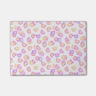 Notas Post-it® Llover gatos y perros del arco iris
