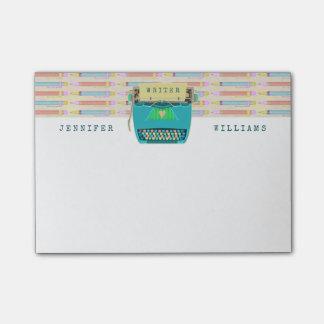 Notas Post-it® Los escritores retros de la máquina de escribir