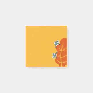 Notas Post-it® Los insectos lindos comen la hoja del otoño