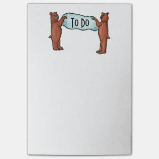Notas Post-it® los osos PARA HACER la lista
