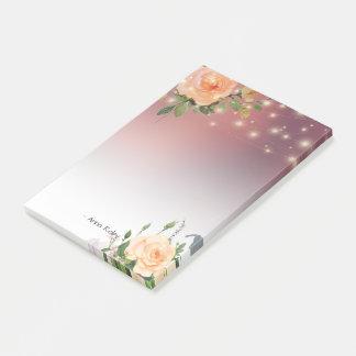 Notas Post-it® Luces florales de la secuencia de la acuarela