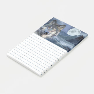 Notas Post-it® Luna Llena del lobo del invierno