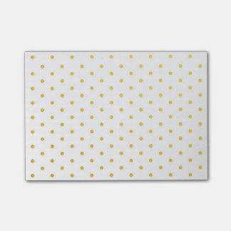 Notas Post-it® Lunares del oro de la moda