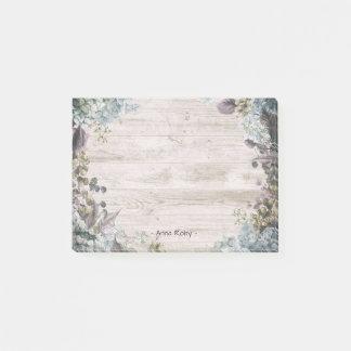 Notas Post-it® Madera floral de la acuarela elegante y rústica
