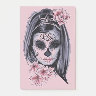 Notas Post-it® Máscara del esqueleto de la mujer