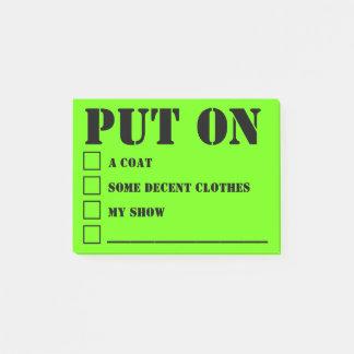 Notas Post-it® Mensajes 7 de la madre que regañan