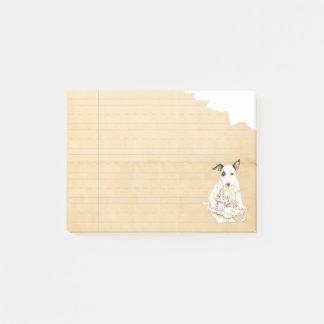 Notas Post-it® Mi bull terrier miniatura comió mi preparación