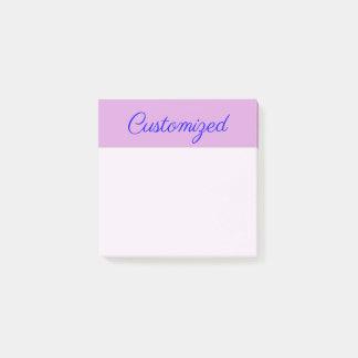 Notas Post-it® Minimalist, fondo elegante, del ciruelo y nombre