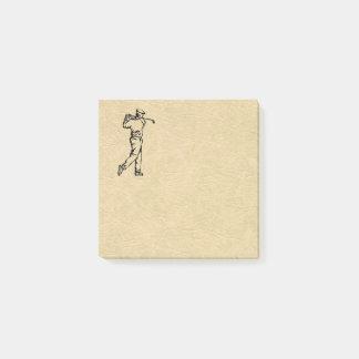 Notas Post-it® Mirada del cuero del diseño del deporte del