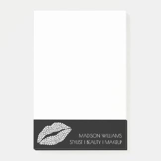 Notas Post-it® Moda del estilista de los labios del blanco del