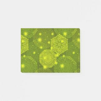 Notas Post-it® Modelo de lujo floral de la mandala