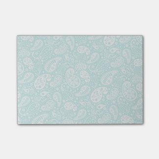 Notas Post-it® Modelo floral de Paisely de la aguamarina