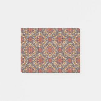 Notas Post-it® Modelo floral étnico abstracto colorido de la