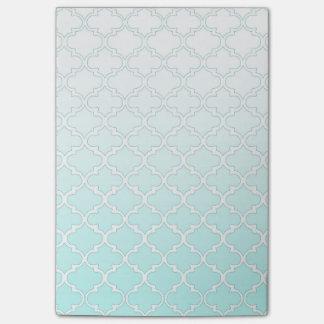 Notas Post-it® Modelo fresco de Quatrefoil de la pendiente del
