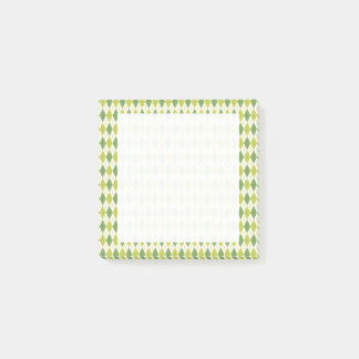 Notas Post-it® Modelo geométrico verde retro de Argyle
