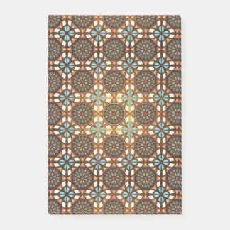 Notas Post-it® Modelo inconsútil retro geométrico abstracto