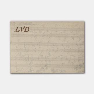 Notas Post-it® Monograma del manuscrito del piano de Beethoven