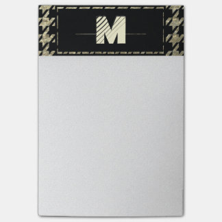 Notas Post-it® Monograma profesional moderno de Houndstooth