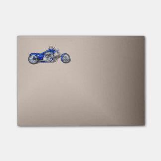 Notas Post-it® Motocicleta 1 - Azul