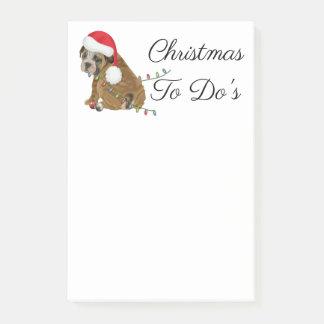 Notas Post-it® Navidad inglés del perrito del dogo