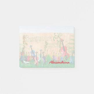 Notas Post-it® Nombre atado multicolor del personalizado de los