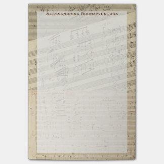 Notas Post-it® Nombre del personalizado del relevo del manuscrito