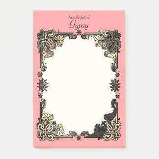 Notas Post-it® Nudo céltico bohemio floral rosado de Boho
