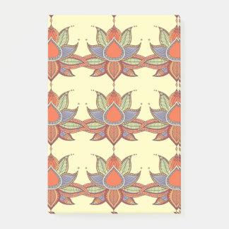 Notas Post-it® Ornamento étnico de la mandala del loto de la flor