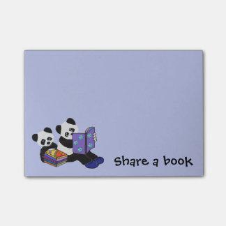 Notas Post-it® Osos de panda Storytime