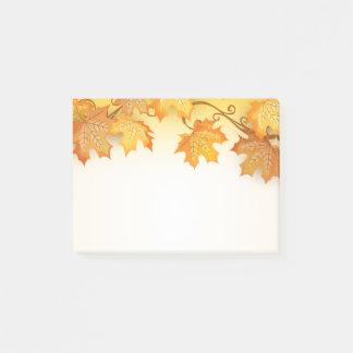 Notas Post-it® País rústico de la caída anaranjada de las hojas