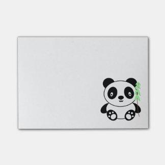 Notas Post-it® Panda con el bambú