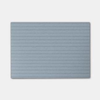 Notas Post-it® papel alineado de la aguamarina