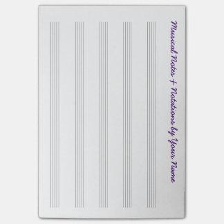 Notas Post-it® Partitura musical en blanco para los viajeros y