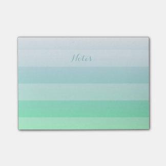Notas Post-it® Pendiente azulverde de Ombre de la aguamarina