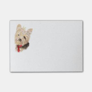Notas Post-it® Pequeña acuarela linda Yorkie Yorkshire Terrier