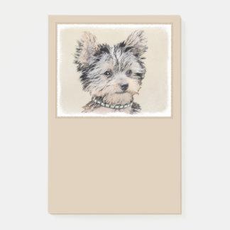 Notas Post-it® Perrito de Yorkshire Terrier que pinta arte