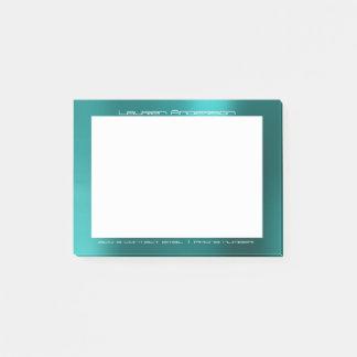 Notas Post-it® Personalizado acuático de la oficina de Tiffany