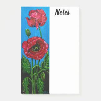 Notas Post-it® Post-it de la flor de la amapola