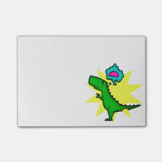 Notas Post-it® Post-it del cerebro de Dino