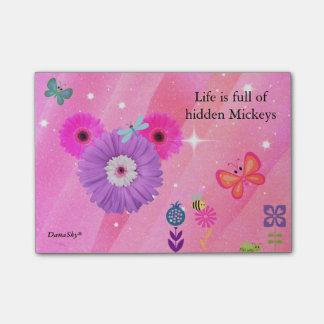 Notas Post-it® POST-IT OCULTADO de la flor de la primavera de