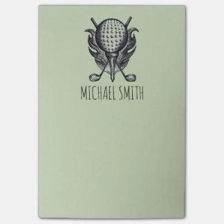 Notas Post-it® Post-it personalizados del golfista del club de la