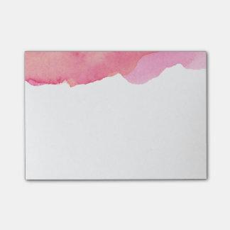 Notas Post-it® Post-it rosado de la acuarela
